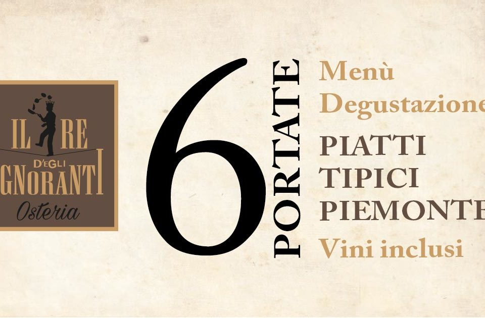Menù Degustazione 6 Piatti Tipici Piemontesi